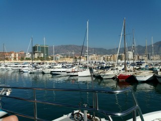 Coming into Benalmadena Marina.
