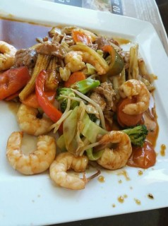 Prawn Stir fry at The Wok Buffet Restaurant