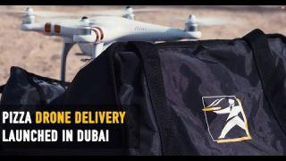 PIZZA DRONE DELIVERY IN DUBAI!